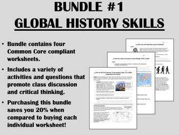 Bundle #1 - Foundations of Global/World History Common Core