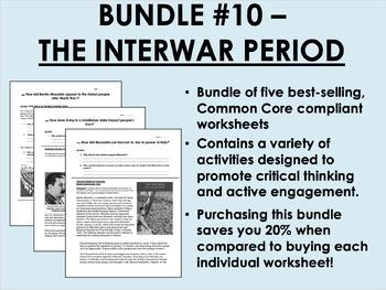 Bundle #10 - Interwar Period - Rise of Fascism - Global/World History