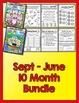 Bundle 10 Months - NO PREP Math & Literacy (First)