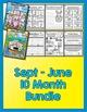 Bundle 10 Months - NO PREP Math & Literacy (Kindergarten)