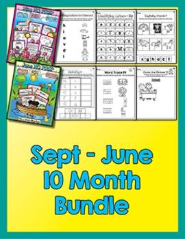 Bundle 10 Months - NO PREP Math & Literacy (Pre-K)