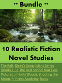 Bundle 10 Realistic Fiction Novel Studies
