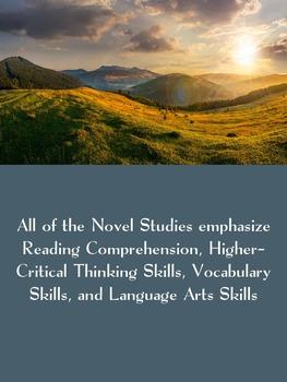 Bundle 10 Realistic Fiction Novel Studies