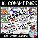 Bundle 13 comptines & activités (French Rhyming, French phonics, Les sons)