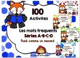 Bundle 100 activités les mots fréquents