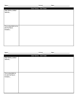 Bundle - 11 Exit Tickets