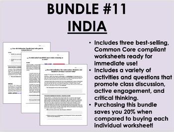 Bundle #11 - India - Global/World History Common Core