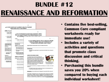 Bundle #12 - Renaissance and Reformation - Global/World History Common Core