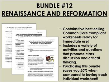 Bundle #12 - Renaissance and Reformation - Global/World Hi