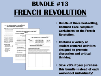 Bundle #13 - The French Revolution - Global/World History Common Core