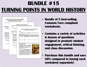 Bundle #15 - Turning Points in World History - Common Core