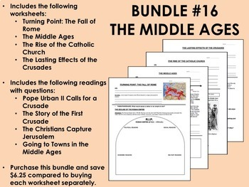Bundle #16 - The Middle Ages - Global/World History Common Core