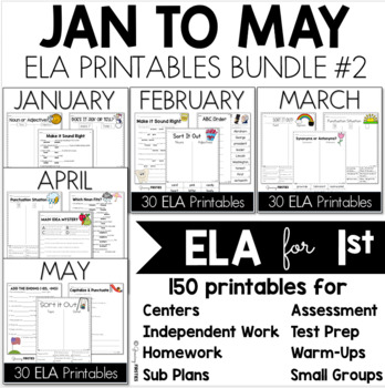 Bundle 2 - Common Core Crunch January to May - ELA CCSS Printables