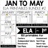 Monthly Printables ELA Bundle January to May