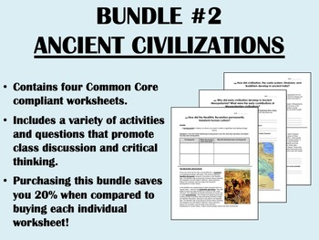 Bundle #2 - Ancient Civilizations - Global/World History Common Core