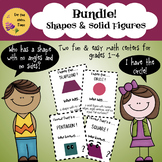 Bundle! 2 Math Student-Led Center Activities for Shapes an