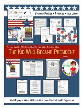 Bundle: 2 Novel Studies Kid Who Ran AND Kid Who Became President by Dan Gutman