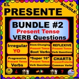 Spanish Verbs BUNDLE! - Regular and Irregular Present Tens