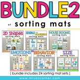 Bundle 2 of Sorting Mats for Special Ed [ 24 Sorting Mat S