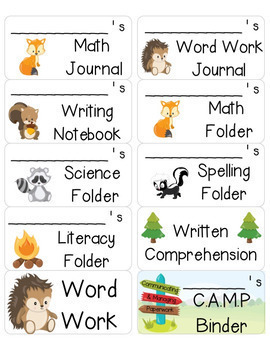 Camping and Forest Themed Classroom Decor Bundle