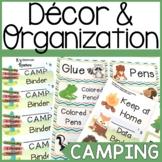 Camping Themed Classroom Decor Bundle