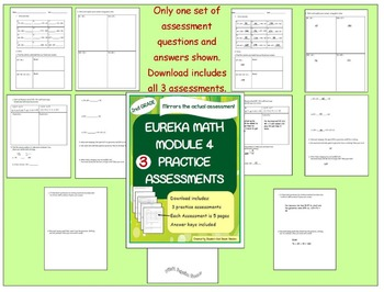 Bundle! 2nd Grade Eureka Math Practice Assessments for Modules 4,5 and 6