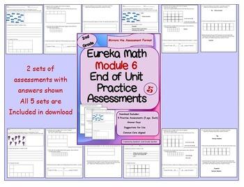 Bundle! 2nd Grade Eureka Math Practice Assessments for Mod