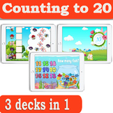 Bundle 3 decks in 1 | Counting to 20 Task Cards for Distan