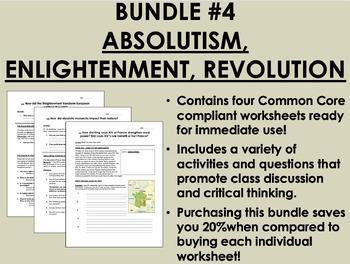 Bundle #4 - Absolutism, Enlightenment, Revolution - Global History Common Core