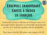 Ensemble grandissant (growing bundle) - Cartes à tâches (français)