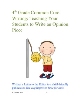 Bundle:  4th Grade Opinion & Narrative Common Core Writing Lessons
