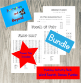 Bundle 4th of July & Flag Day Activity Page Packs - Word Search, Games, Puzzles