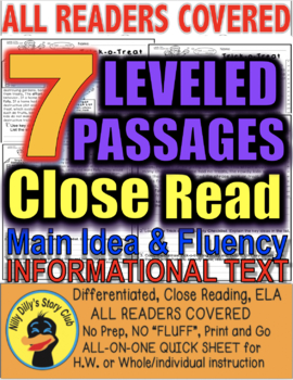 October Halloween Facts & More 25 pages 5 Level Passages 4 Informational Text
