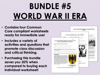 Bundle #5 - World War II - Global/World/US History Common Core