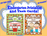 Fall Review 50 Printables 100 Task Cards  Kindergarten