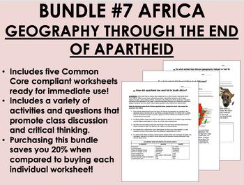 Bundle #7 - Africa - Global/World History Common Core