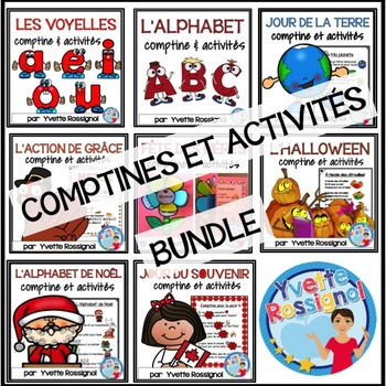 Bundle (8 comptines et activités) Ateliers, 1er cycle, French Immersion