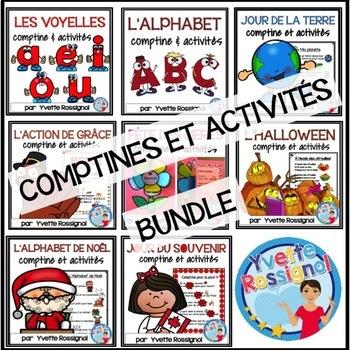 Bundle (8 comptines et activités) Ateliers, 1er cycle, French Immersion
