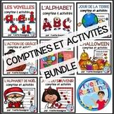 Comptines et activités pour la lecture et l'écriture | French Literacy BUNDLE