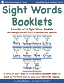 Bundle 9: Sight Word Booklets with Short Vowels(Based on D