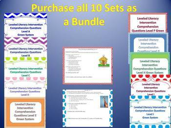 Bundle ALL Levels A-J Leveled Literacy Intervention LLI Comprehension Green