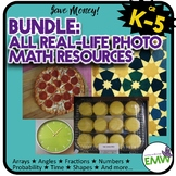 Bundle - ALL Real Life Picture Cards of Arrays, Angles, Fr