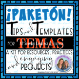 AP Spanish Tips for Temas * Resources, Practices and Project Based Learning Kit