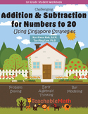 Bundle - Addition Subtract to 20 - Morning Work using Singapore Mastery Method