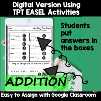 Addition & Subtraction Practice with St. Patrick's Day Jokes Bundle