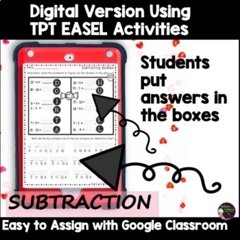 Addition & Subtraction Practice with Valentine Jokes Bundle