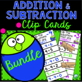 Bundle Addition and Subtraction Clip and Flip Cards - Numb