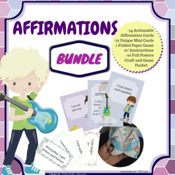 {Bundle} Affirmations for Kids - 39 PAGES!