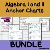 Algebra I and II Anchor Charts Bundle