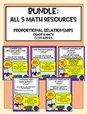 Bundle: All 5 Math Resources for Proportional Relationships